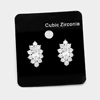 CZ marquise earrings