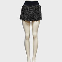 Mesh rose cluster mini skirt