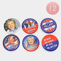 12 PCS - Hillary Clinton for president brooches
