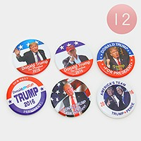 12 PCS - Donald Trump for president brooches