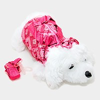 Sequin Dog Doll Tote Bag with Strap
