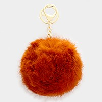 Pom Pom Rabbit Fur KeyChain / Bag Charm