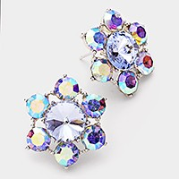 Genuine Austrian crystal flower earrings