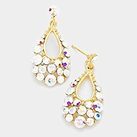 Genuine Austrian crystal bubble teardrop earrings