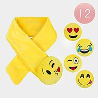 12 PCS - Cute emoji pull through scarves