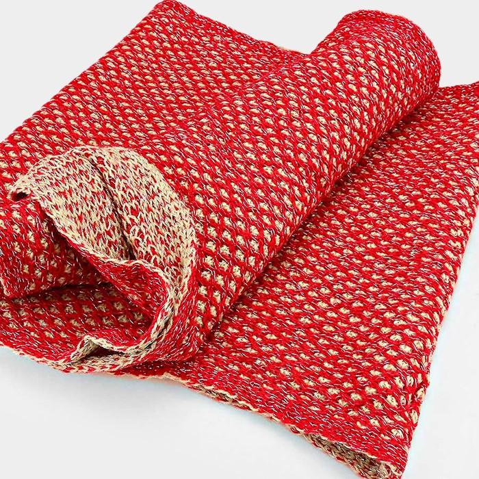 Stocking Stitch Knitting Patterns : Two Tone Knit Infinity Scarf