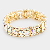 Glass Crystal Stretch Evening Bracelet