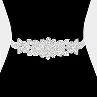 Bridal wedding crystal rhinestone sash ribbon belt / Headband