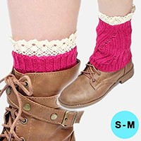 Knitted Acrylic Leg Warmer/ Boot Topper
