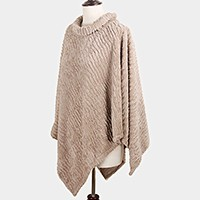 Roose turtleneck ribbed poncho