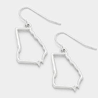 Georgia state map earrings