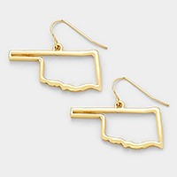 Oklahoma state map earrings
