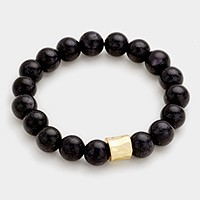 Semi precious stone beaded stretch bracelet