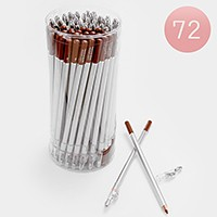 72 PCS - Lip & eye liner pencils with sharpeners