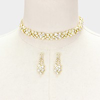 Crystal rhinestone bubble choker necklace