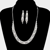 Crystal rhinestone marquise necklace