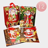 12 PCS - Christmas Holiday gift bags