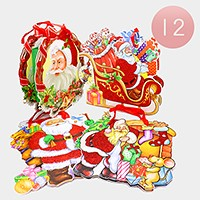 12 PCS - Christmas Santa Claus Holiday gift bags
