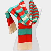 Striped retro spring scarf
