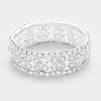 Rhinestone bubble stretch evening bracelet