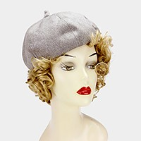 Basque beret hat