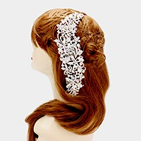 Floral rhinestone bubble hair comb