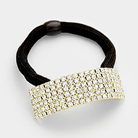Rhinestone ponytail hair band