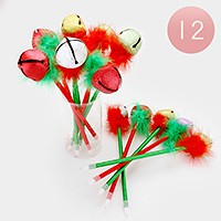 12 PCS - Christmas ornament ball point pens
