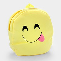 Smiley face emoji with tongue out backpack bag