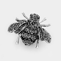 Pave honey bee brooch