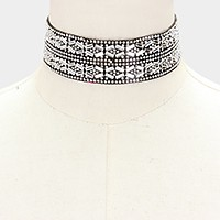 Crystal embellished choker necklace