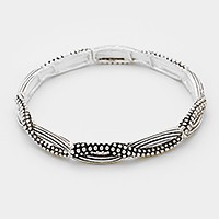 Embossed metal stretch bracelet