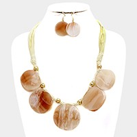 Celluloid double shell necklace
