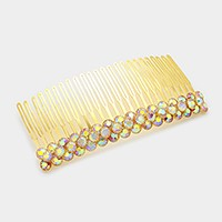 Glass crystal bubble hair comb
