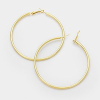 Hypo Allergenic stainless steel hoop pin catch earrings