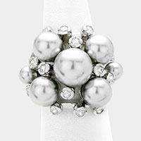 Pearl bloom ring