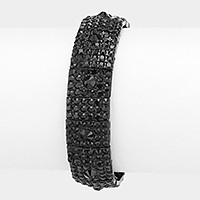 Rhinestone pave stretch evening bracelet