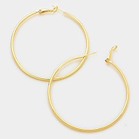 14K gold filled 8 cm hoop earrings