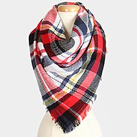 Plaid check scarf
