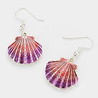 Lacquered shell earrings