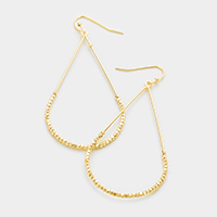 Metal beads teardrop hoop earrings
