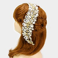Glass crystal teardrop vine bun wrap hair comb