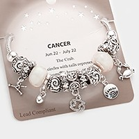 Cancer _ Multi-bead zodiac sign charm bracelet