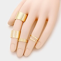 4 PCS - Metal stack rings