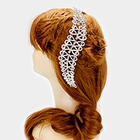 Crystal pave hair comb