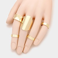 5 PCS - Mixed metal rings