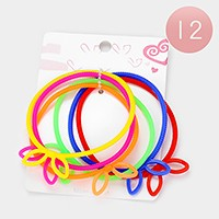 12 Sets - Bunny silicone jelly bangle stretch bracelets
