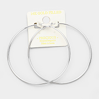 14K gold filled 8 cm Hypoallergenic hoop earrings