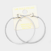 14K gold filled 6 cm Hypoallergenic hoop earrings