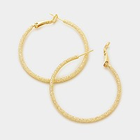 14K gold filled 4 cm Hypoallergenic hoop earrings
